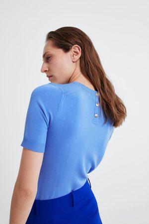Zara Mujer Suéteres - Jersey básico manga corta