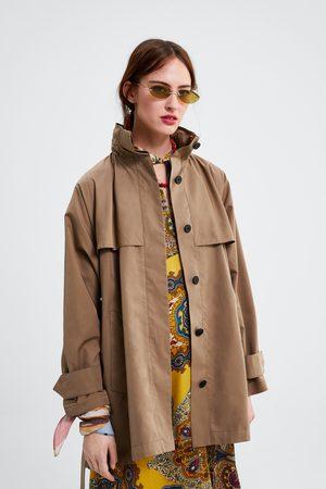 Zara Parka capucha cinturón