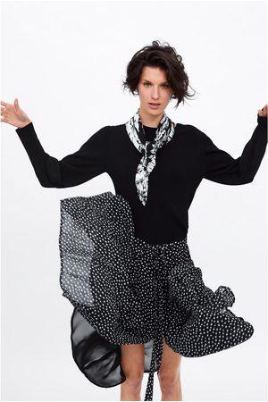 Zara Falda plisada lunares