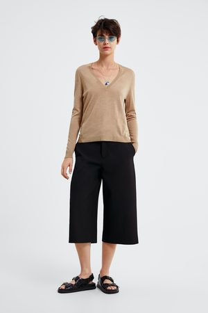 Zara Mujer Suéteres - Jersey punto lana merino