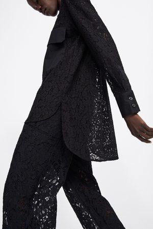 Zara Camisa encaje bolsillos