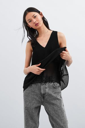 Zara Top plisado
