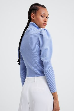 Zara Mujer Suéteres - Jersey punto manga abullonada