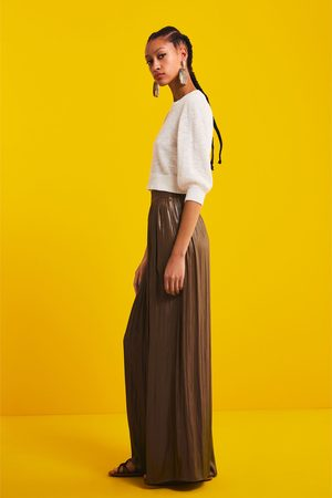 Zara Pantalón ancho efecto brillo