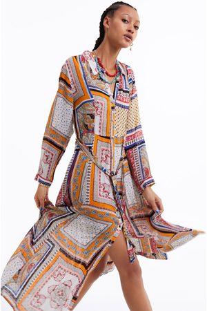 Zara Mujer Estampados - Vestido estampado plumeti
