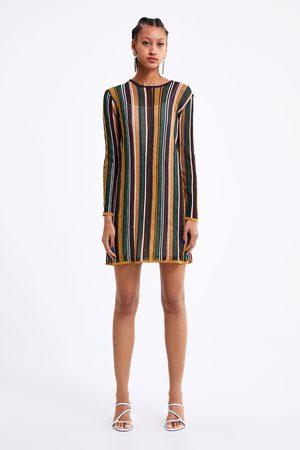 Zara Mujer Estampados - Vestido punto rayas