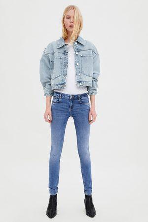 Zara Jeans mid rise sculpt rotos