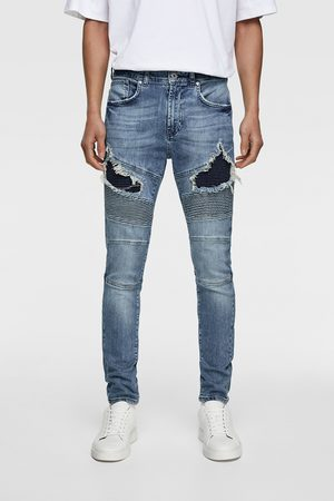 Zara Jeans biker rotos