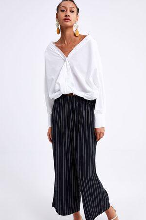 Zara Pantalón culotte rayas