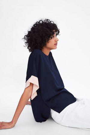 Zara Blusa mangas combinadas