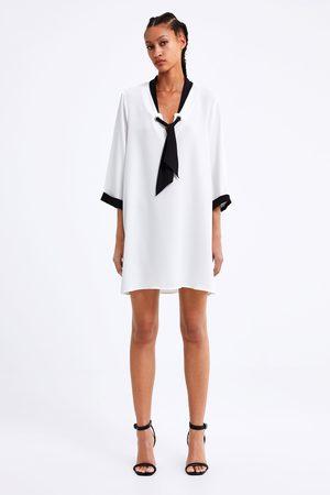 Zara Vestido lazo contraste