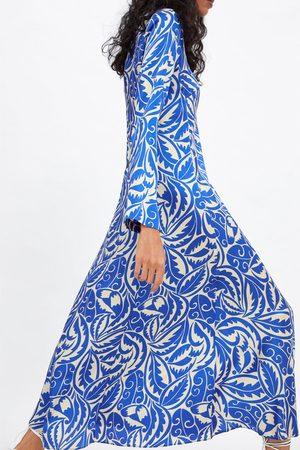 Zara Vestido largo estampado