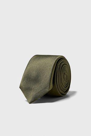 Zara Hombre Corbatas - Corbata estrecha estructura