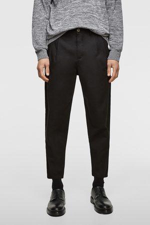 Zara Hombre Chinos - Pantalón chino pliegues