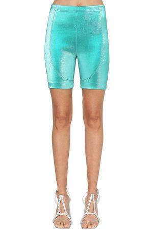 AREA Mujer Pantalones y Leggings - Shorts Ciclismo De Lamé Stretch