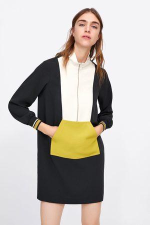 Zara Vestido saco color block