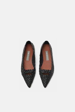 Zara Mujer Flats - Bailarina trenzado