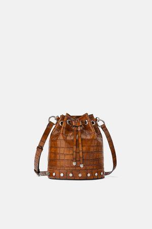 Zara Mujer Bolsas - Bolso saco estampado animal