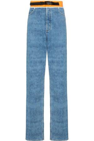Maison Margiela Hombre Rectos - Jeans rectos con pretina en contraste