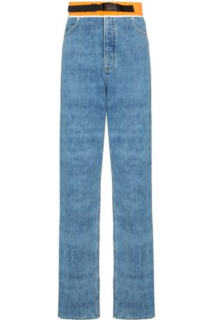 Maison Margiela Jeans rectos con pretina en contraste