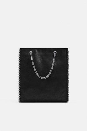 Zara Mujer Bolsas - Shopper tachas