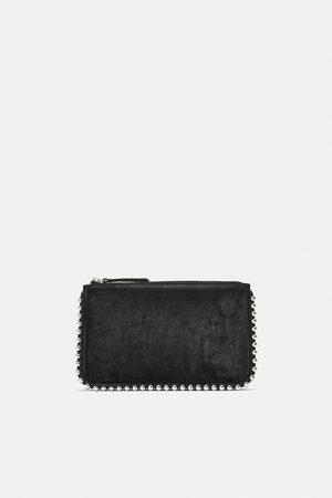 Zara Mujer Bolsas crossbody - Bandolera negra tachas