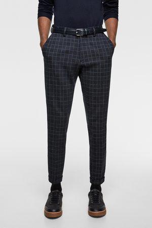 Zara Hombre Pantalones y Leggings - Pantalón conjunto confort knit cuadros