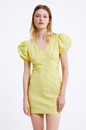 Zara Vestido drapeado