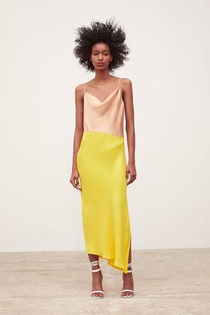 Zara Vestido lencero color block