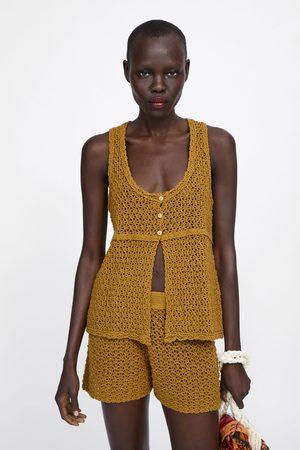 Zara Top punto crochet