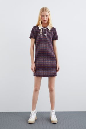 Zara Vestido cuello combinado