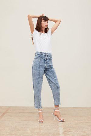 Zara Jeans zw premium 80's baggy acid blue