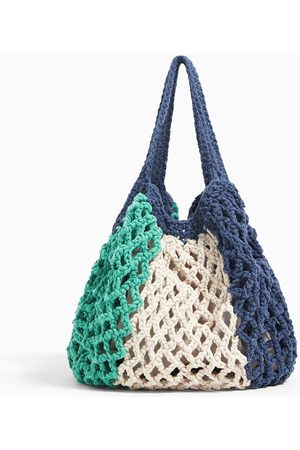 Zara Shopper algodón crochet