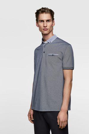 Zara Polo cuello combinado