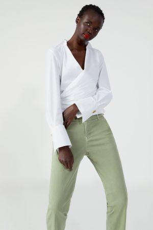Zara Jeans zw premium floppy chino forest green