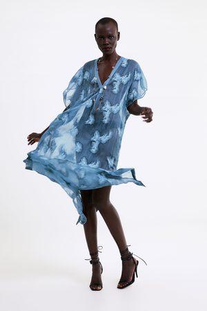 Zara Túnica semitransparente bordados