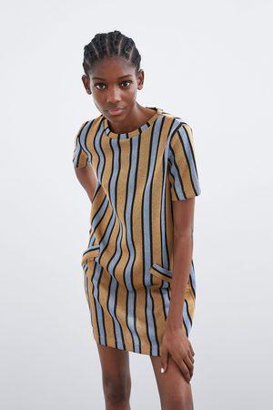 Zara Vestido rayas rústico