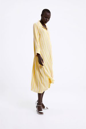 Zara Vestido rayas bolsillo