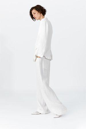 Zara Pantalón ancho lino