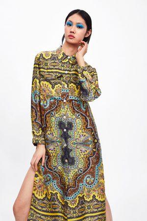 Zara Túnica estampada bolsillos