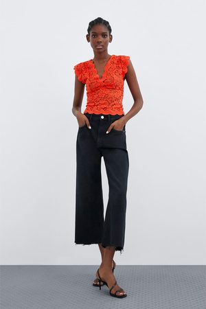 Zara Camiseta encaje elásticos