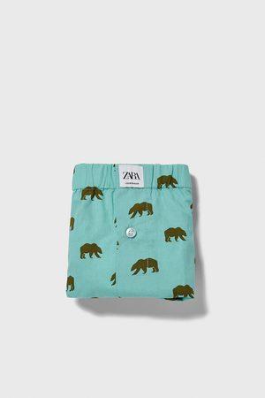 Zara Bóxer popelín estampado osos