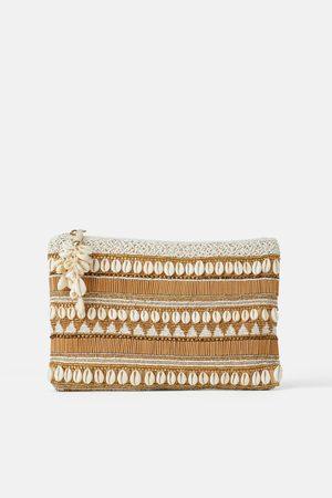 Zara Bolso de mano conchas