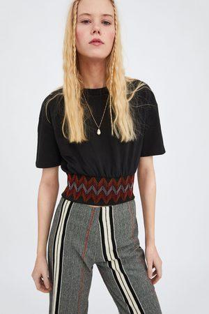 Zara Mujer Playeras - Camiseta bordado