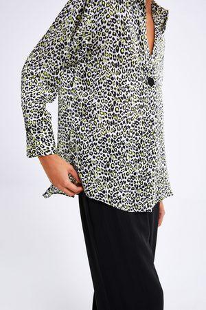 Zara Mujer Blusas - Blusa estampado animal