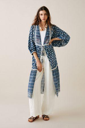 Zara Kimono estampado bordados