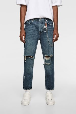 Zara Jeans relaxed cropped