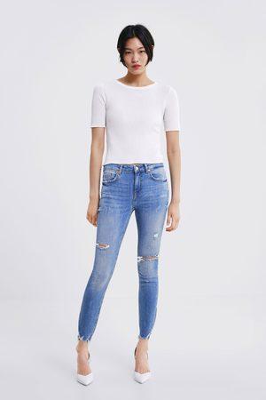 Zara Jeans zw premium skinny multidamage