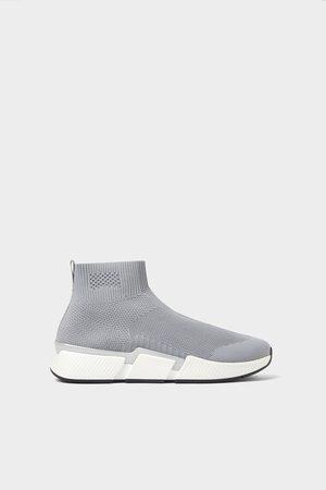 Zara Deportivo botín calcetín