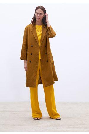 Zara Abrigo largo lino